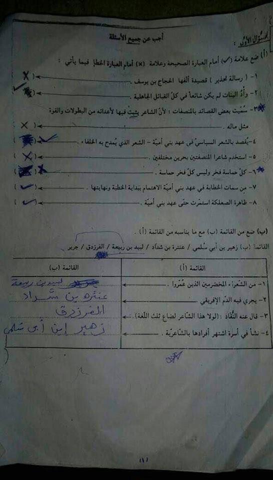 اسئلة واجوبة امتحانات الشهادة السودانية 2018