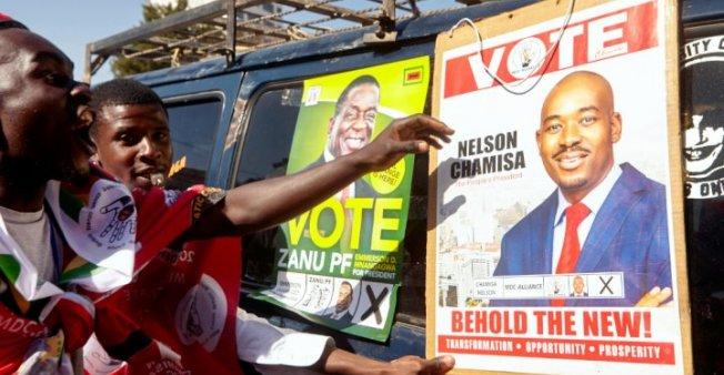 رئيس زيمبابوي روبرت موغابي  290718_zimbabwe_election_0